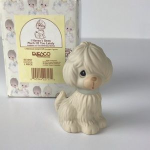 Precious moments Dog figurine Haven't seen you